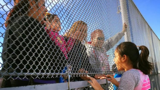 The journey of two families in two countries, split by a chain-link fence