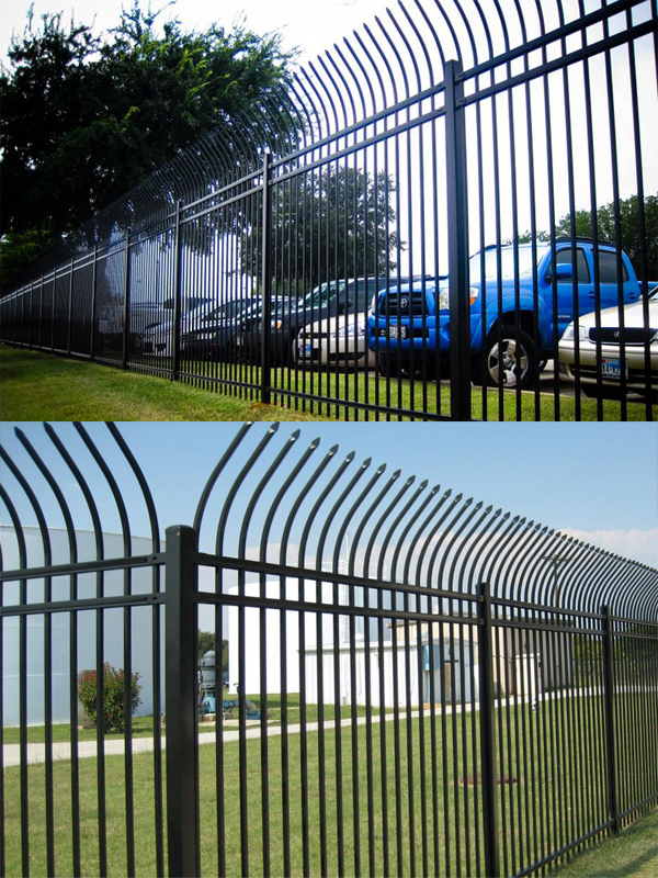 Curved Wrought Iron Fence Steel Fence