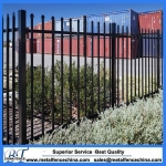 Security spear top tubular steel fence panel