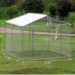 Chain Link Dog Kennel Run With Cover