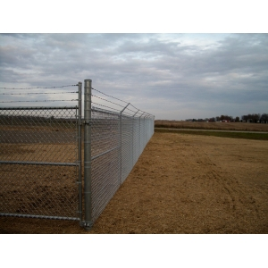 Chain link fabric fence