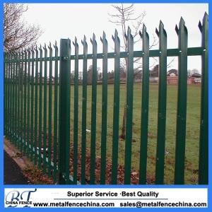 D pales galvanized palisade fencing
