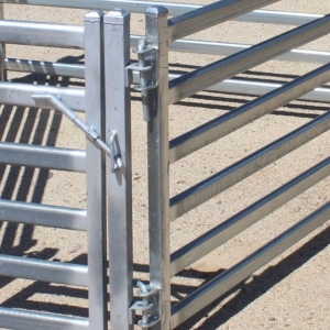 Galvanized Oval Rail Goat Sheep Corral Panel