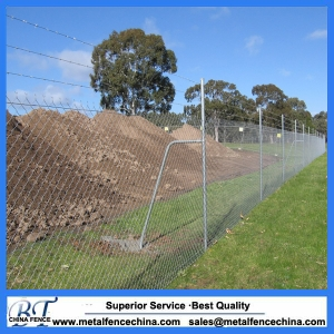 Galvanized chain link fence/PVC coated chain link fence/ electro galvanized chain link wire mesh