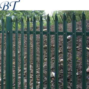 Powder Coated palisade fencing