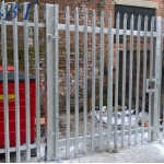 Galvanised Security Palisade Fencing