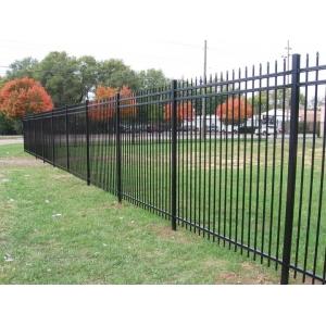 Three Rails Wrought Iron Fence