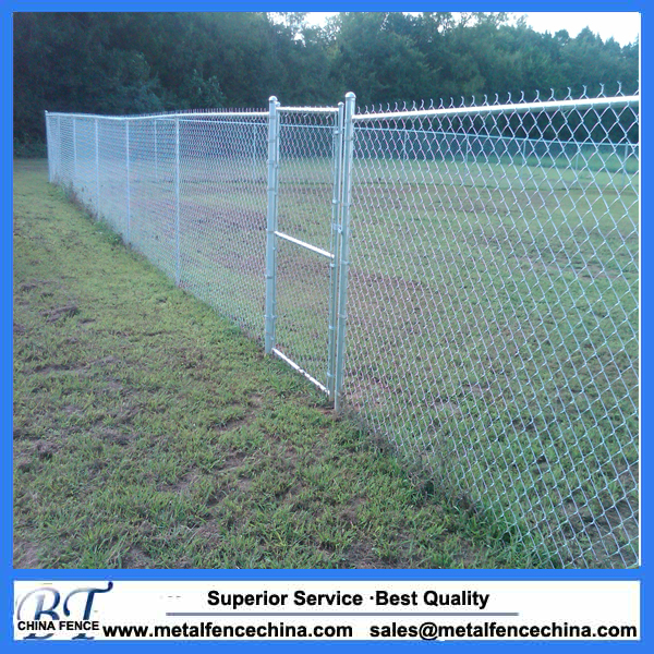 Galvanized chain link diamond wire fence mesh