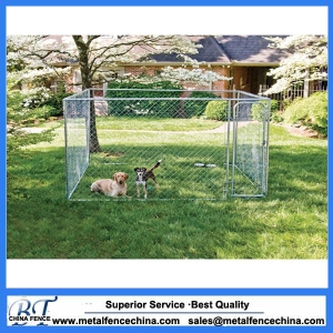 Large outdoor galvanized cheap chain link dog kennel