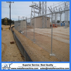 Galvanized chain link diamond wire fence mesh