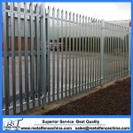 D pales galvanized palisade fencing