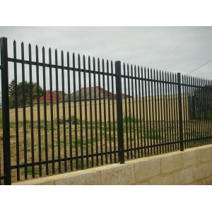 Tow rails wrought iron fence