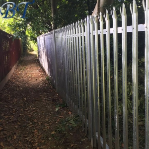 Galvanised D section Palisade Fencing
