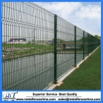 V bending pvc coated metal mesh fencing
