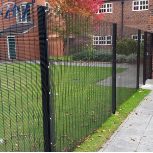 Black Powder Coated 358 Anti Climb Mesh Fence