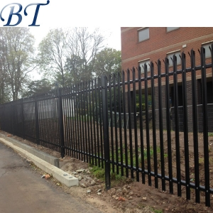 Black Color security palisade fencing
