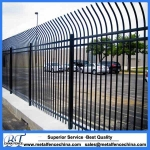Cranked wrought iron fence