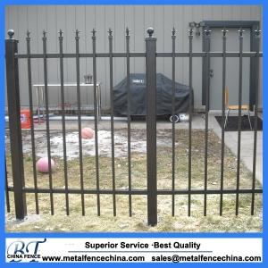 Decorative wrought iron fence