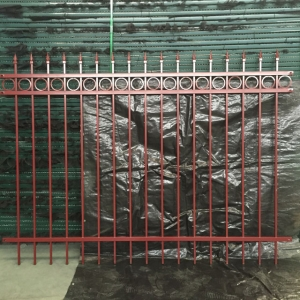 Ornamental Wrought Iron Fence for Garden