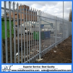 Hot dipped galvanized security steel palisade fencing