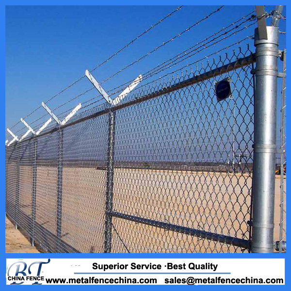 Chain link fence security