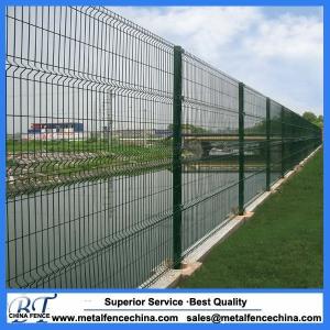 V bending pvc coated metal mesh fencing