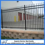 Three Rails Wrought Iron Fence