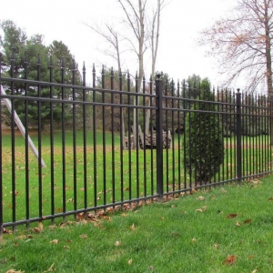 Metal playground fencing