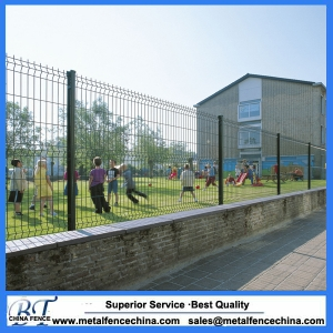 Backyard metal fence,3D wire mesh fence.