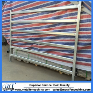 Oval tube steel galvanized cattle yard panel and Gates