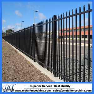 Australia cheap wrought Iron fence for sale, steel fence, metal fence