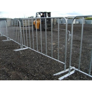 Galvanized crowd control barriers
