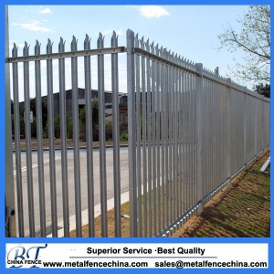 W pales galvanized palisade fencing