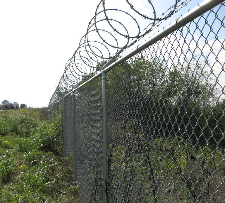 Security chain link fence system