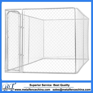 Chain link dog cages