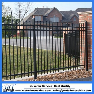 Steel backyard metal fence steel picket fence